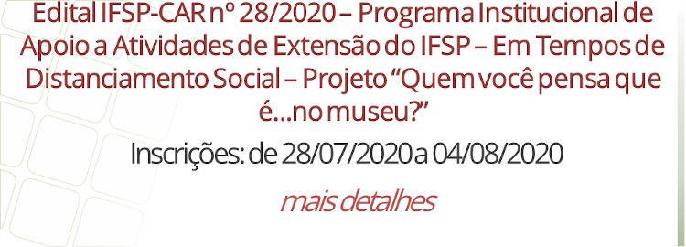 Edital IFSP-CAR nº 28/2020